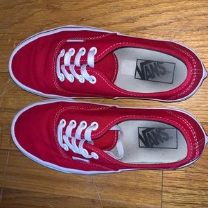 Vans authentic style red sneakers